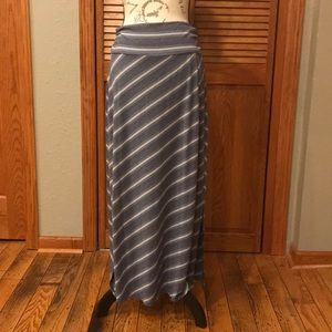 Maxi skirt blue/gray